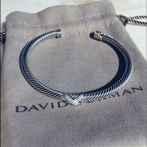 David Yurman X Diamond Bracelet 4mm Medium Size